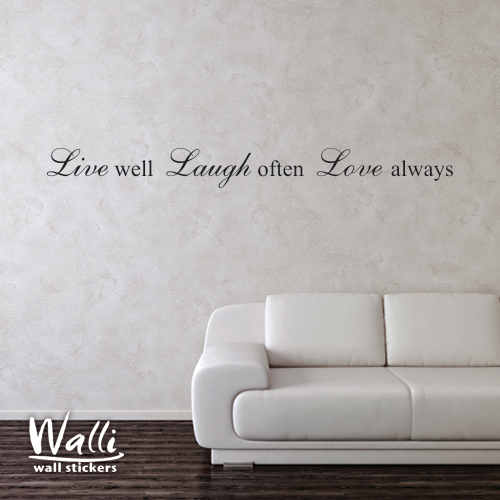 מדבקות קיר -  Live well. Laugh often-1