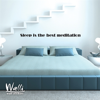 מדבקות קיר - Sleep is the best medition