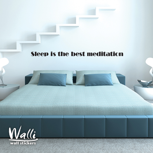 מדבקות קיר - Sleep is the best medition-1