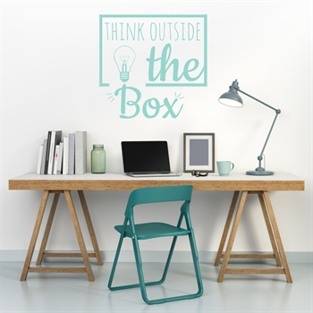 מדבקת קיר - think outside the box
