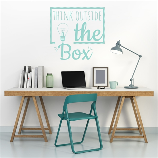 מדבקת קיר - think outside the box-1