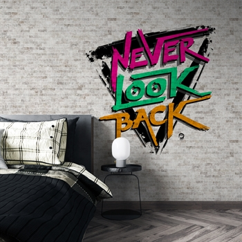 טפט Never look back בריקים